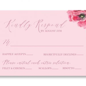 Pink Poppies RSVP
